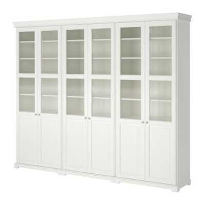 LIATORP Storage combination with doors, white - Ikea