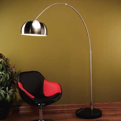 CHROME ARCH FLOOR LAMP - Hollis Modern