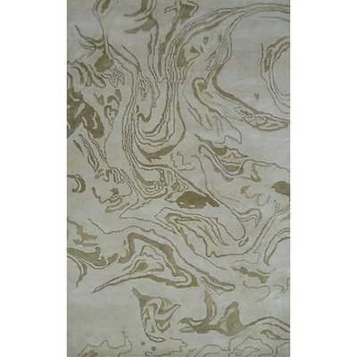 The Rug Market Maison 44521 Marble Gold Wool Area Rug - 8' x 11' - Lamps Plus