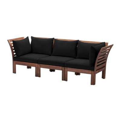 PPLARÖ / HÅLLÖ Sofa, outdoor, black - Ikea