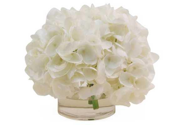"""10"""" Hydrangea in Vase - Faux - One Kings Lane"""