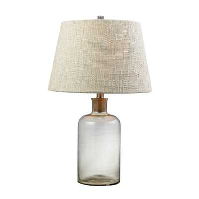 Clear Glass Bottle Table Lamp With Cork Neck - Rosen Studio