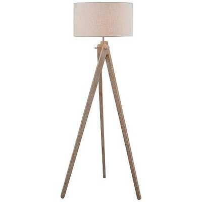Lite Source Wolcott White Wash Wood Tripod Floor Lamp - Lamps Plus