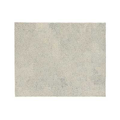 Trystan Blue Wool-Blend Rug - Crate and Barrel