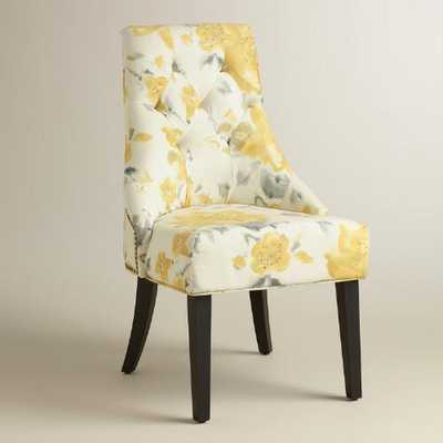 Yellow Floral Tufted Lydia Dining Chairs, Set of 2 - World Market/Cost Plus