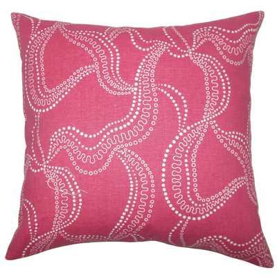 Youvani Graphic Pillow Pink - Polyester insert - Linen & Seam
