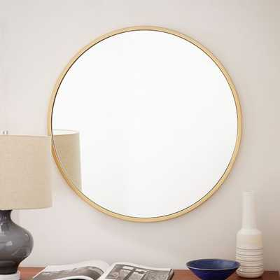 Metal Framed Round Wall Mirror - West Elm