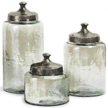 Round Luster Canisters - Set of 3 - Home Decorators