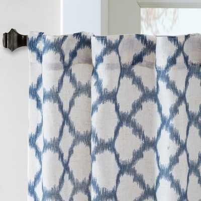 """Nakita Linen Single Curtain Panel - Blue - 95"""" - Wayfair"""