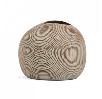 """Contour Porcelain Vase - Small Round - 2.8""""H - GoldLeaf Design Group"""