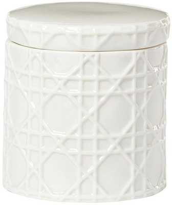 PISA BATH ACCESSORIES - Cotton Jar - Home Depot