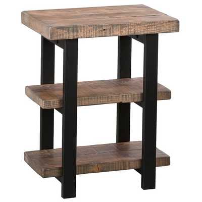 Alaterre Pomona Rustic 2-shelf End Table - Overstock