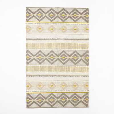 Intarsia Wool Rug - West Elm