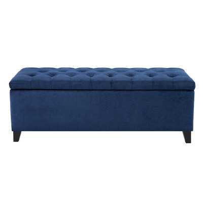 Shandra Storage Ottoman-Blue - Wayfair