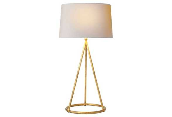 Nina Tapered Table Lamp, Gilded Iron - One Kings Lane