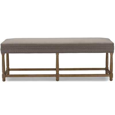 NATHAN OAK MODERN COUNTRY CONSOLE BENCH - Lark Interiors