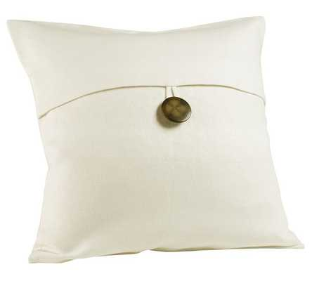 TEXTURED LINEN PILLOW COVER - Without Insert - Pottery Barn
