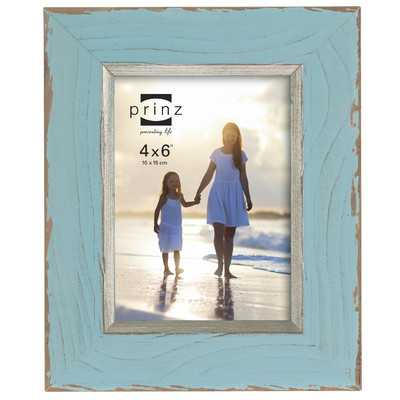 "Clearwater Distressed Wood Picture Frame - Blue - 4"" x 6"" - Wayfair"