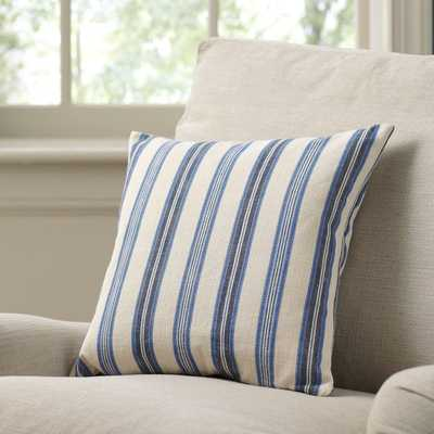 "Nottingham Blue Pillow Cover - 18""sq. - Without insert - Birch Lane"