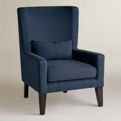 Indigo Blue Triton High Back Chair - World Market/Cost Plus