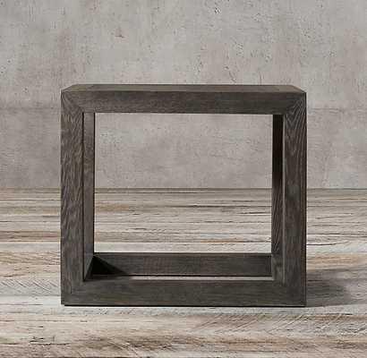 HERRINGBONE SQUARE SIDE TABLE - RH