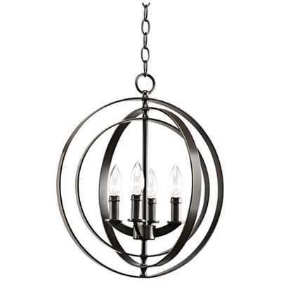 "Equinox Collection Bronze 16"" Wide Pendant Light - Lamps Plus"