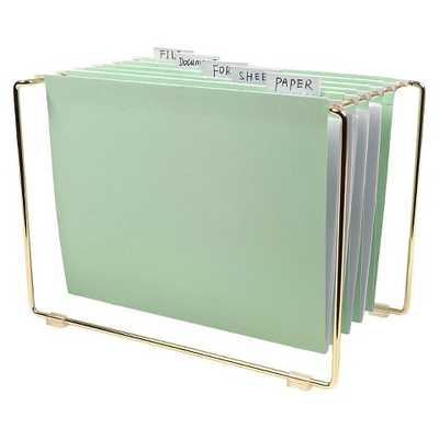 Tabletop File with 5 pc Hanging Folders - Target