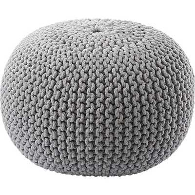 Knitted Pouf - CB2