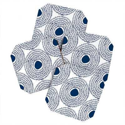CIRCLES IN BLUE II Coaster - Set of 4 - Wander Print Co.