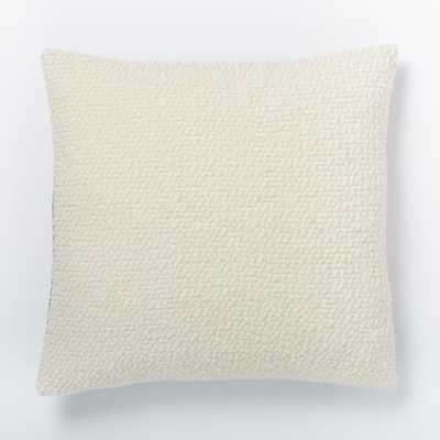 "Cozy Boucle Pillow Cover - Ivory - 18"" x 18"" - Insert Sold Separately - West Elm"