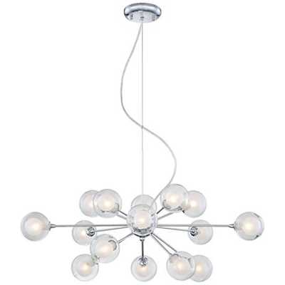 Possini Euro Design Glass Sphere 15-Light Pendant Chandelier - Lamps Plus