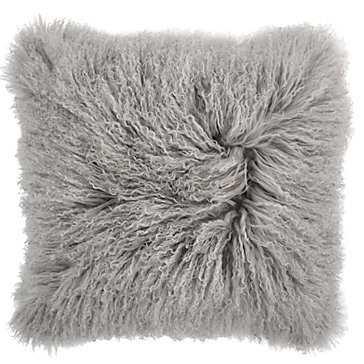 Mongolian Grey Pillow - Down Insert - Z Gallerie