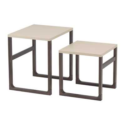 RISSNA Nesting tables - set of 2 - beige - Ikea