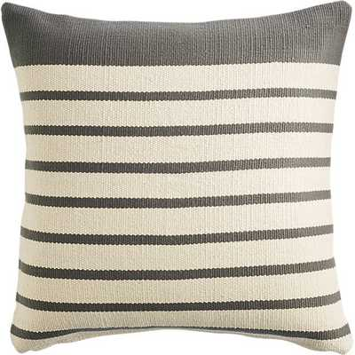 """Division grey 20"""" pillow with down-alternative insert - CB2"""