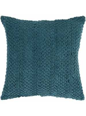 """Verna Pillow -  Turquoise - 22"""" x 22"""" - Down Filled - Lulu and Georgia"""