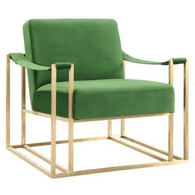 Billy Green Velvet Chair - Maren Home