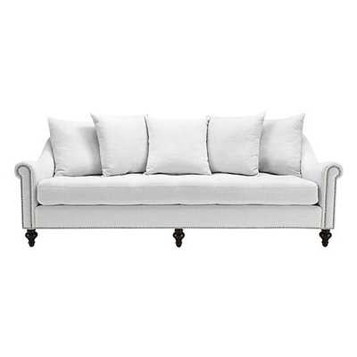 Cardiff Sofa [NailHead : Brushed Silver; Fabric : Belgium White] - Z Gallerie