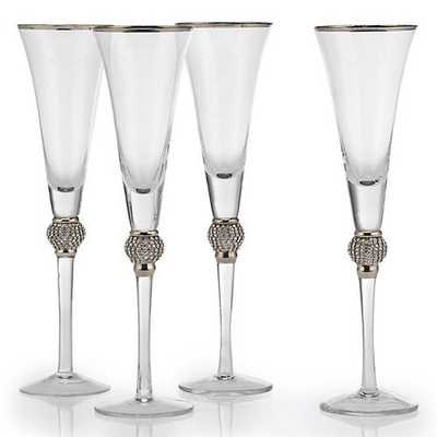 Victoria Stemware - Sets of 4 [Flute - Set of 4] - Z Gallerie