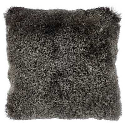"""Indochine Pillow [20"""" Charcoal] - Z Gallerie"""