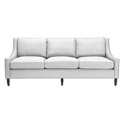 Reese Sofa [NailHead : Brushed Silver; Fabric : Belgium White] - Z Gallerie
