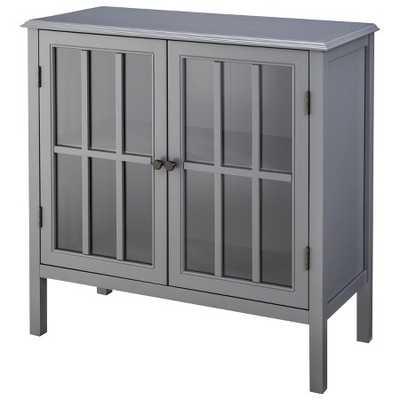 Windham 2 Door Accent Cabinet - Gray - Target