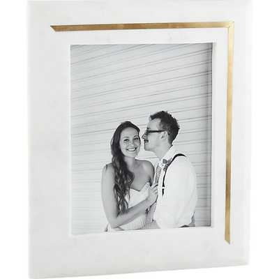 Silas marble-brass 8x10 picture frame - CB2