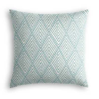 "18"" Throw Pillow - Tahitian Stitch - Horizon - No Trim - Poly Insert - Loom Decor"