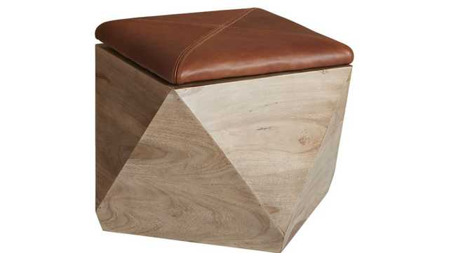 Hexagon Storage Ottoman - CB2