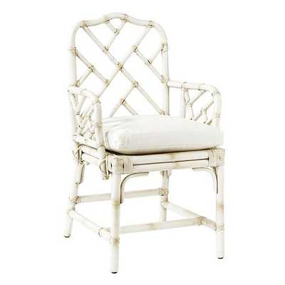 Macau Armchair - White - Ballard Designs