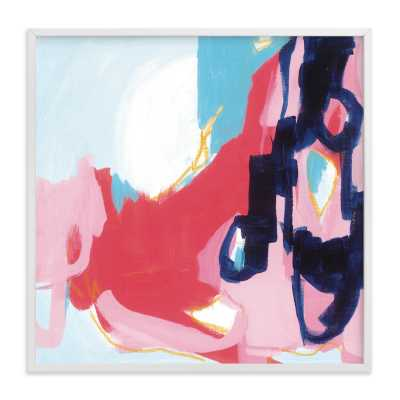 """Opus - 30"""" x 30"""" - White Frame - Minted"""