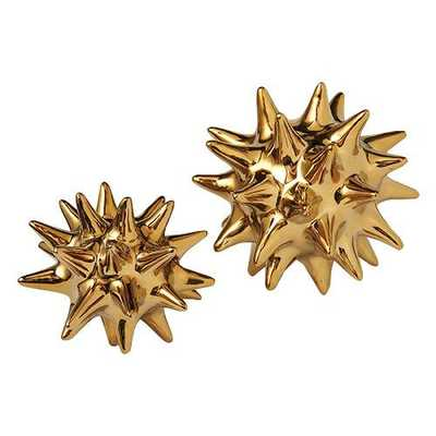 DwellStudio Urchin - Bright Gold- Large - Domino