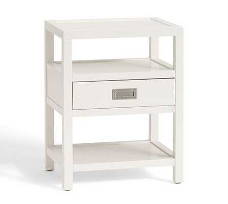 Lonny Bedside Table - White - Pottery Barn