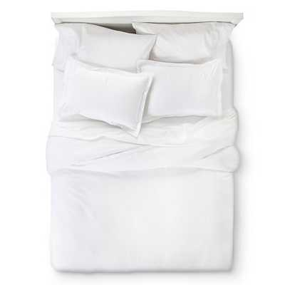 400 Thread Count Hemstitch Solid Duvet Cover Set - King - White - Target