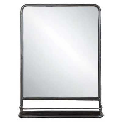 Metal Wall Mirror with Shelf - Target